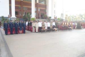 Lanud Sjamsudin Noor Mengikuti Rangkaian Upacara Peringatan Hari Pahlawan ke 74 di Banjarmasin