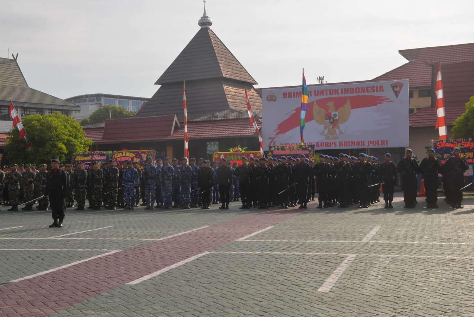 Komandan Lanud Sjamsudin Noor Hadiri Upacara HUT Brimob ke-74 di Mapolda Kalimantan Selatan
