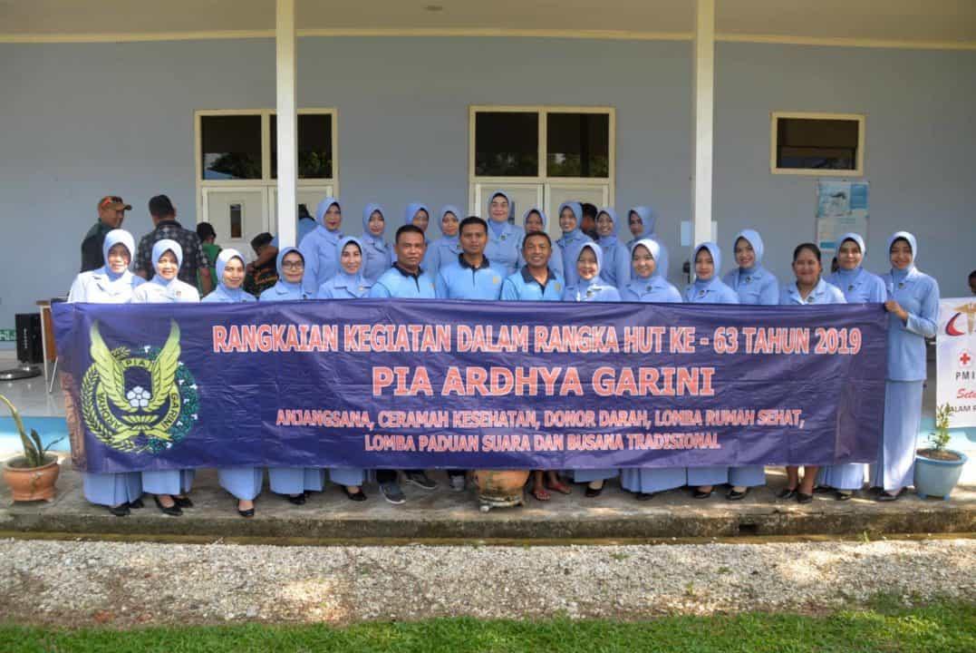 PIA AG Cab.11/D.II Lanud Sjamsudin Noor Gelar Donor Darah Dalam Rangka Memperingati HUT PIA AG ke-63 Tahun 2019