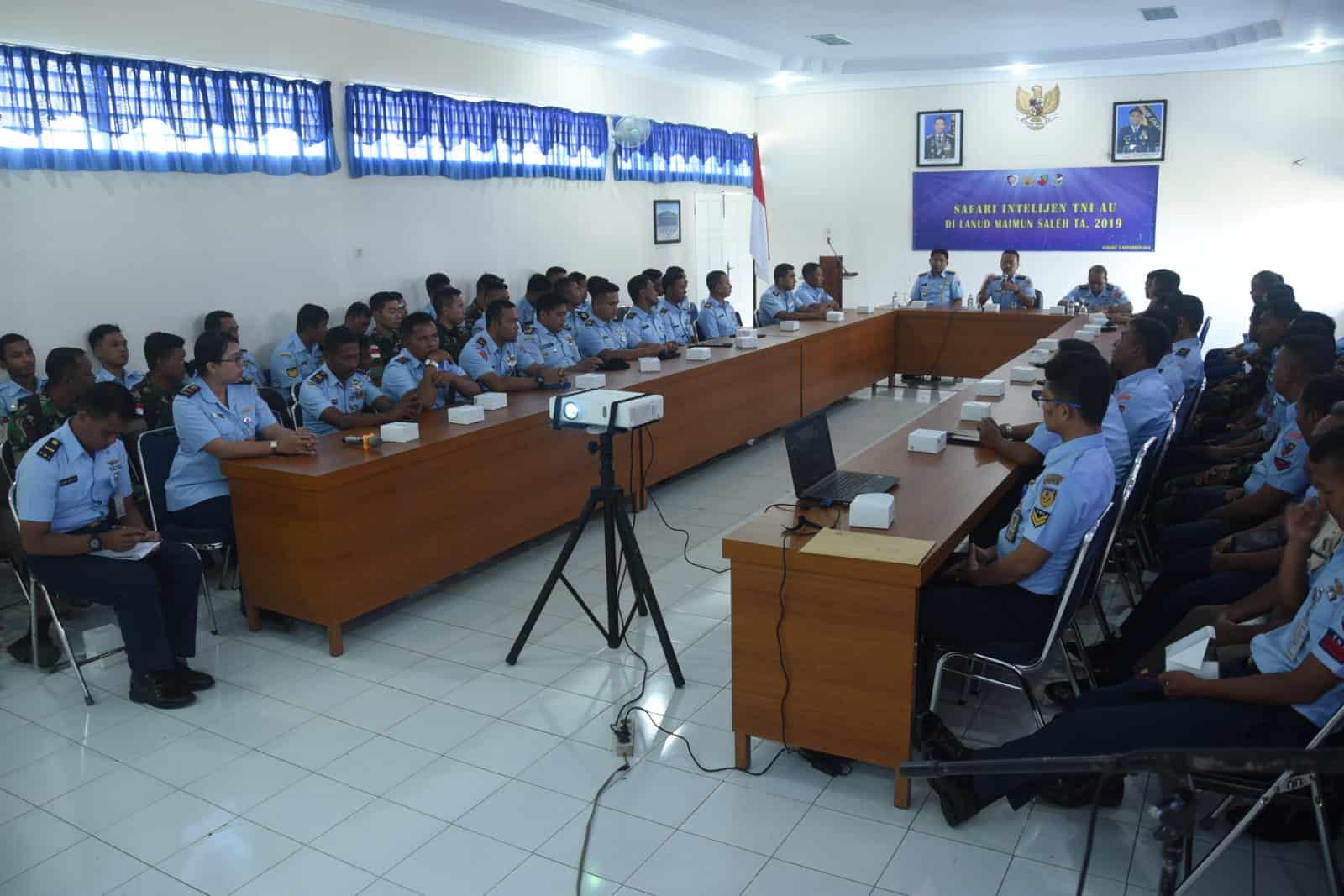 Meningkatkan Kewaspadaan Dan Keamanan, Personel Lanud Maimun Saleh dan Satrad 233 Sabang mengikuti acara Safari Intelijen.