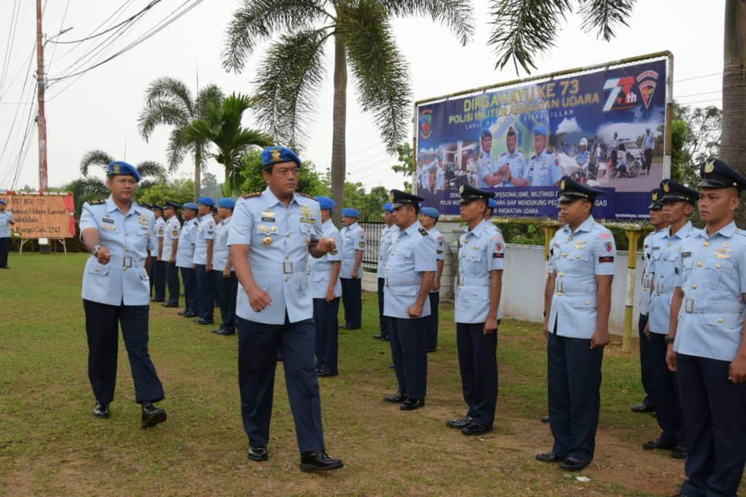 Upacara Peringatan HUT ke-73 Pomau di Lanud RHF, Ini Pesan Kasau Kepada Prajuritnya