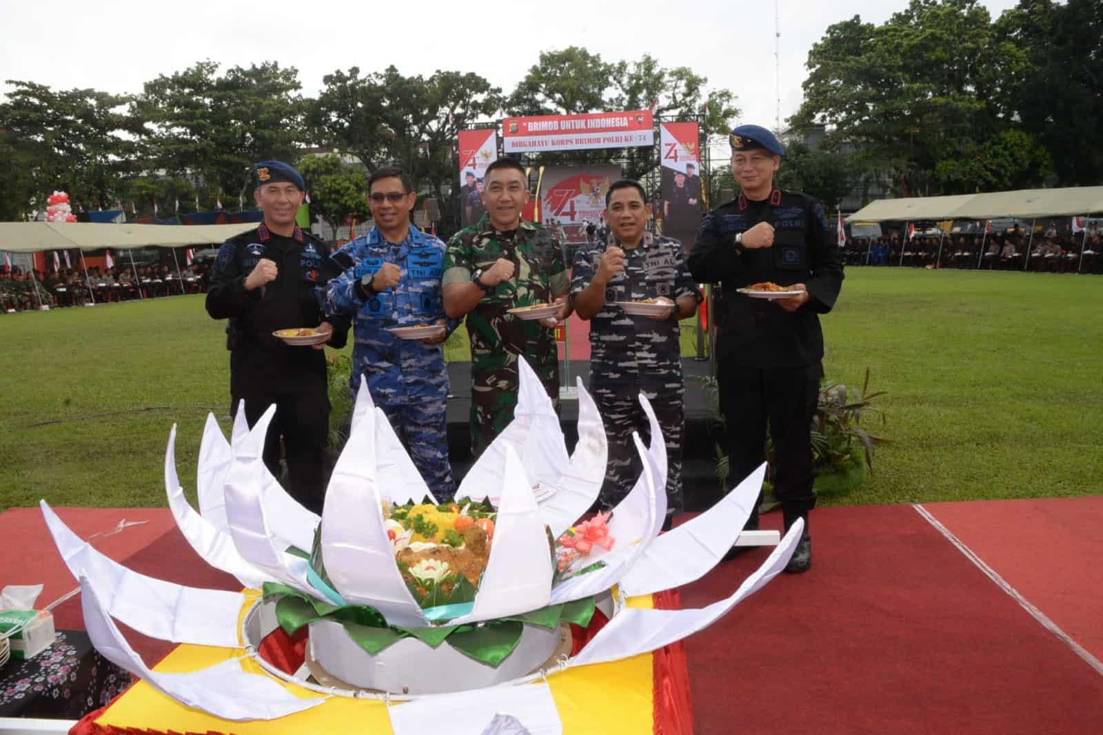 Panglima Kosekhanudnas III Hadir Dalam Upacara HUT Ke-74 Korps Brimob