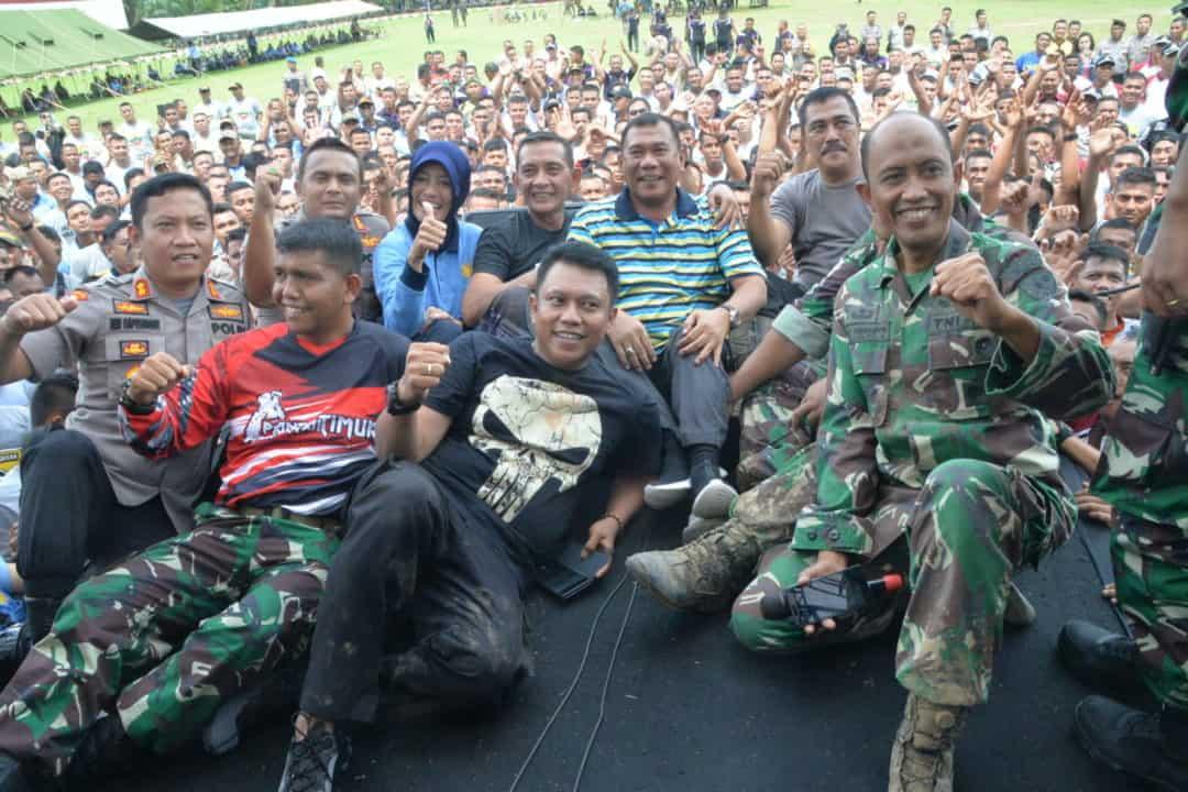 Personel Kosekhanudnas III Turut Serta Trail Bersama TNI-Polri Menjalin Sinergitas