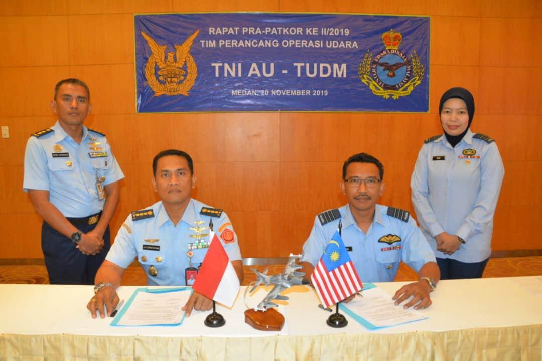 Pelaksanaan Rapat Operasi Udara TNI AU-TUDM Dalam Rangka Pra Patkor Malindo/19