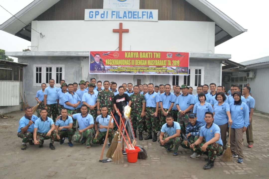 KOSEKHANUDNAS III MELAKSANAKAN KEGIATAN KARYA BHAKTI TNI SEMESTER II TA. 2019