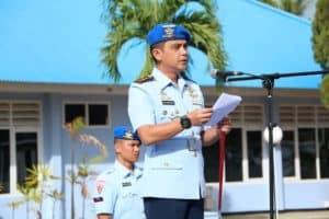 Danlanud J.A. Dimara Pimpin Upacara HUT ke-73 Polisi Militer Angkatan Udara