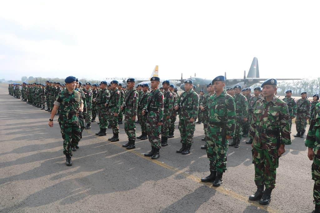Lanud Abd Saleh Gelar Latihan Pengamanan dan Patroli Aset TNI AU Rajekwesi