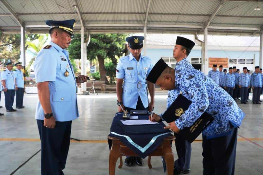 Peringatan HUT Korpri ke-48 di Sub Unit Korpri Lanud Abdulrachman Saleh