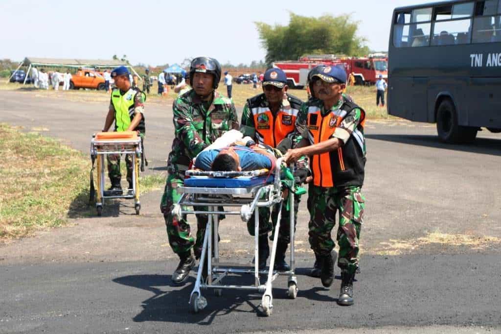 Lanud Abdulrachman Saleh Dukung Latihan PKD Bandara 2019