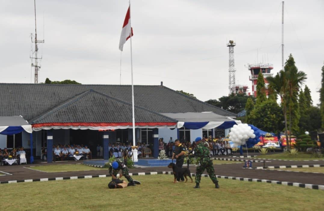 Peringatan HUT Pomau Lanud Husein Sastranegara ke 73, diwarnai berbagai atraksi oleh personel Satpomau