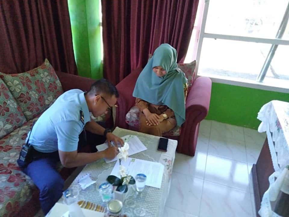 Optimalisasi pengolahan limbah B3, Sikes Lanud Maimun Saleh bekerjasama dengan Puskesmas Sukajaya.
