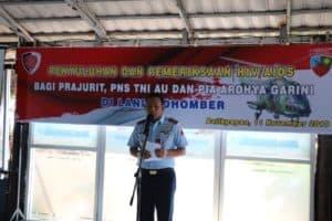 Prajurit Lanud Dhomber Bebas HIV/AIDS