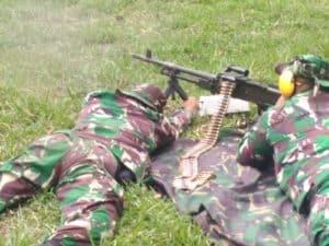 Pusdiklat Paskhas Gelar Latihan Menembak Senjata Bantuan dan Sniper