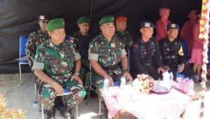 Satgas Pamrahwan Yonko 462 Paskhas Pos Enarotali Hadiri Upacara HUT Brimob KE 74