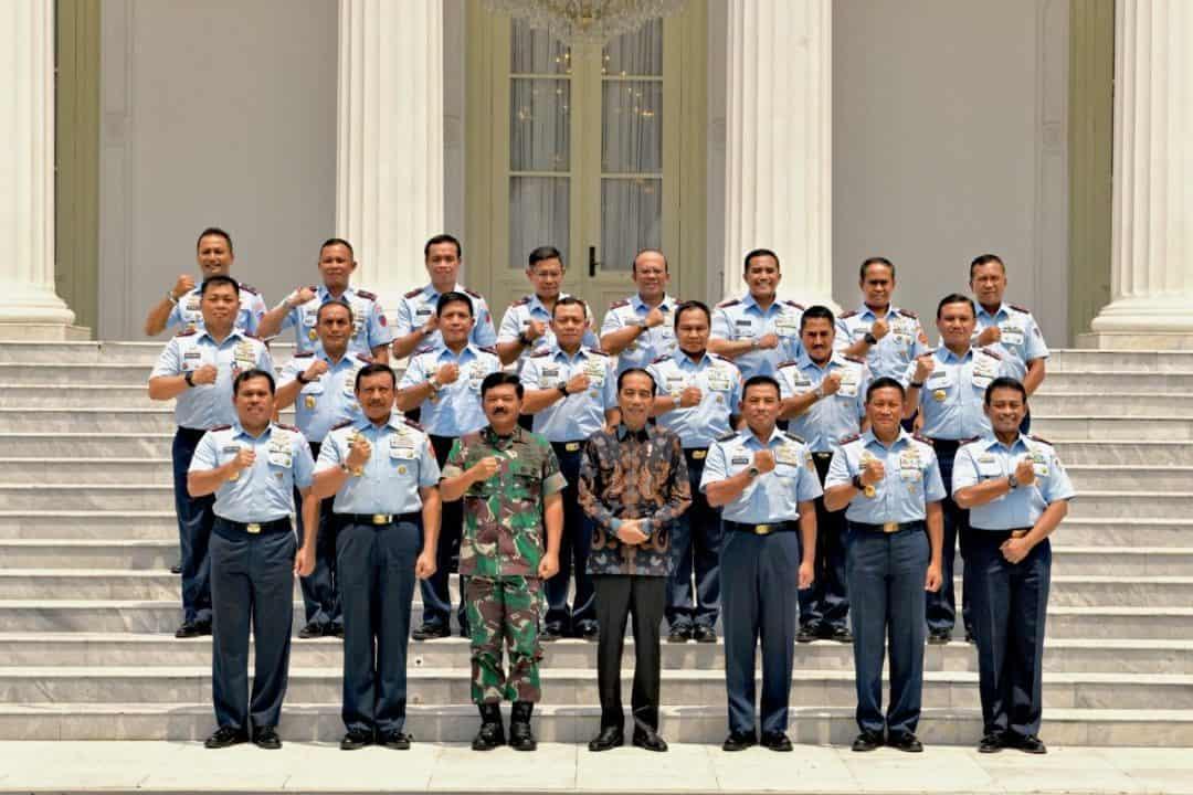 Pangkoopsau II Marsda TNI Donny Ermawan, T., M. D. S. Mengikuti Pengarahan Presiden Republik Indonesia