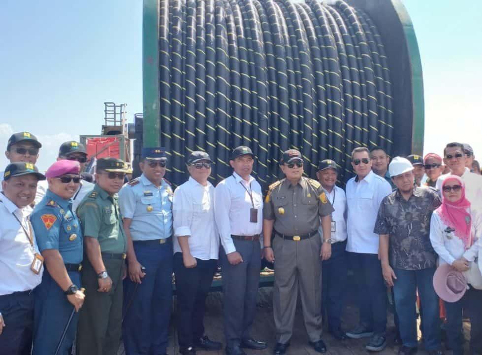 Danlanud BNY Hadiri Peletakan Batu Pertama dalam Pembangunan SKLTM di Pahawang