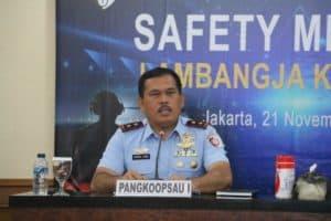 Pangkoopsau I Membuka Pelaksanaan Safety Meeting Lambangja Koopsau I