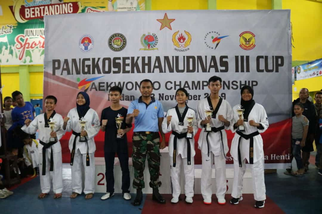 Penutupan Kejuaraan Taekwondo Championship Pangkosekhanudnas III Cup 2019