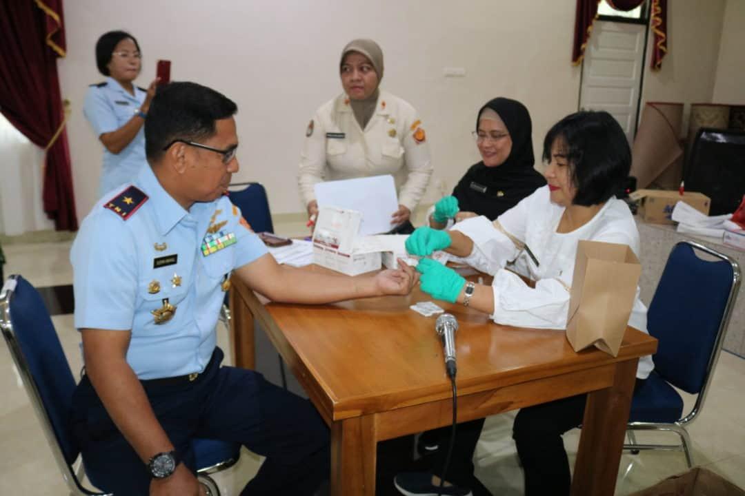 Personel Kosekhanudnas III Melaksanakan Screening dan Konseling HIV/AIDS