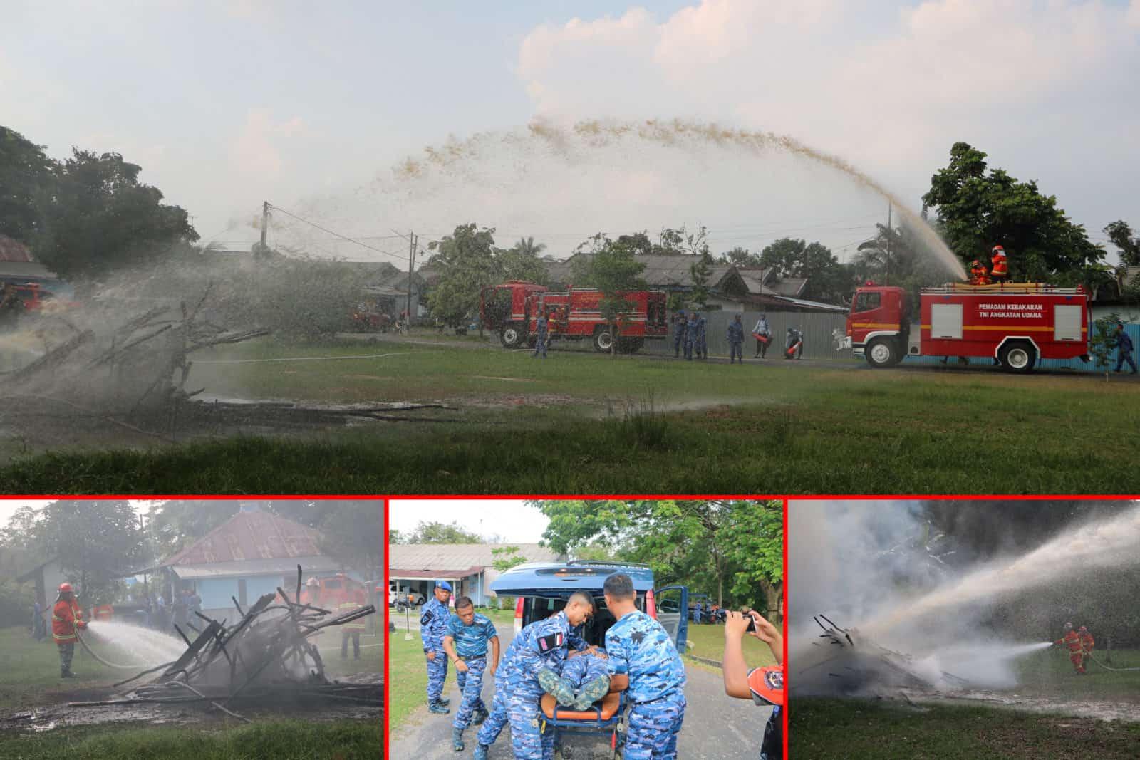 Kebakaran di Lanud Rsn, Dua Orang Menjadi Korban