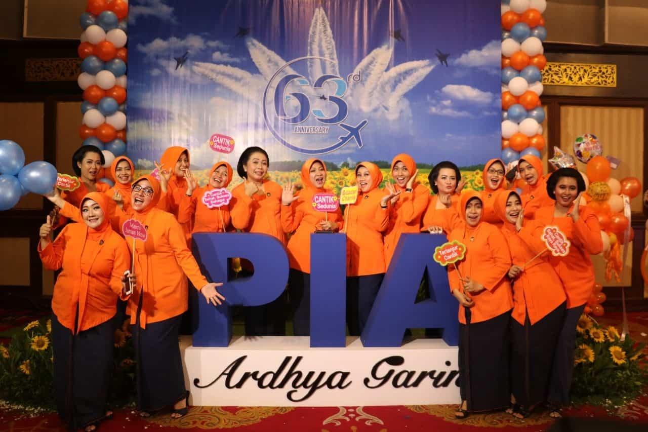 Ketua PIA Ardhya Garini Cab. 12/D.I Lanud Rsn Hadiri Peringatan HUT PIA AG Ke–63