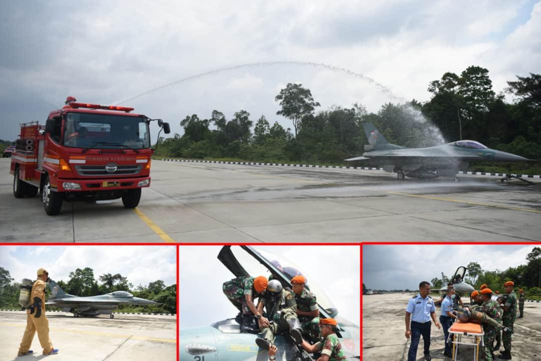 Danlanud Rsn, Tingkatkan Latihan Penanganan Emergency EPU Fire Pesawat F-16