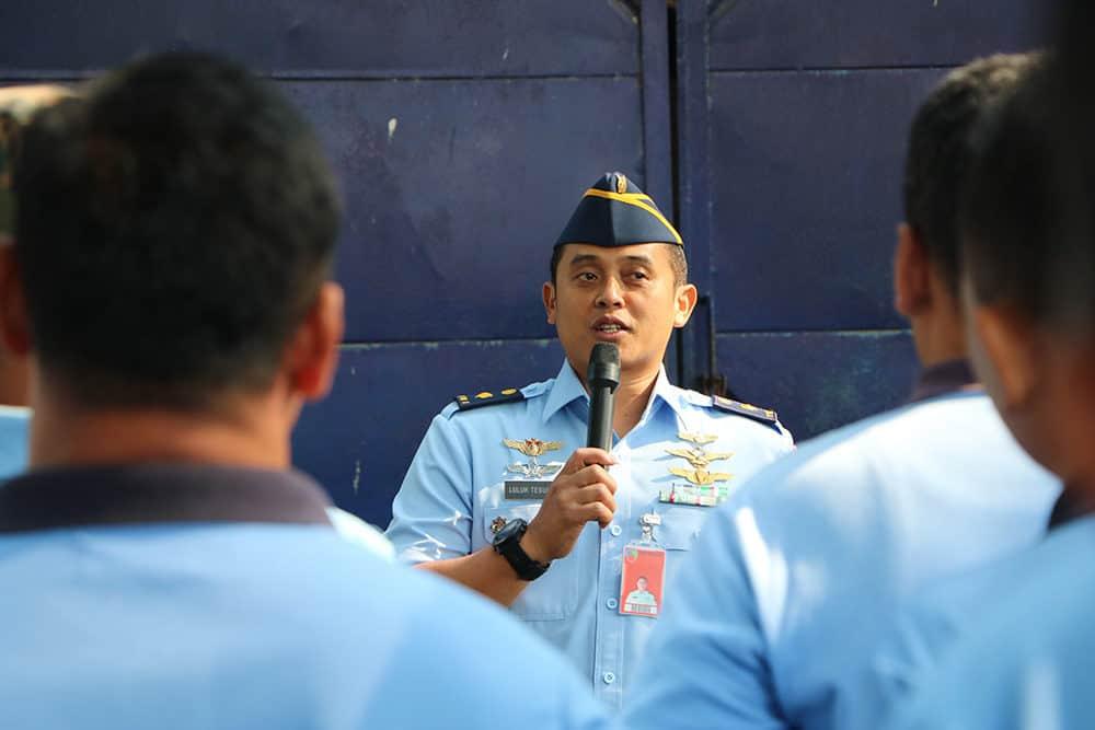 100 prajurit TNI AU Lanud Iswahjudi dilatih padamkan api