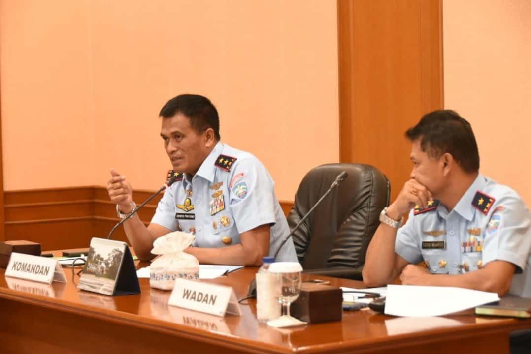 Dankoharmatau – Pimpin Rapat Kerja Sama TNI AU dengan Amerika Serikat.