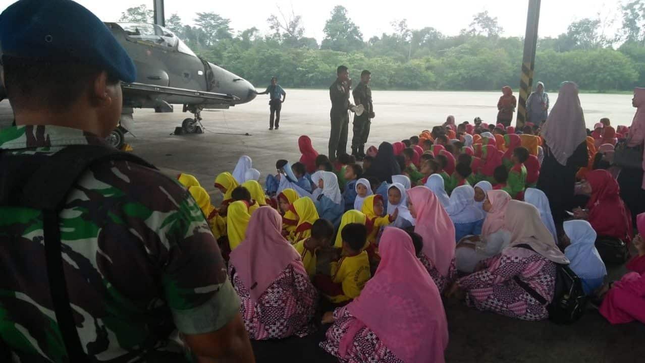 Berkunjung Ke Skadud 12, Ratusan Anak-Anak TK Dan SD Dibuat Kagum