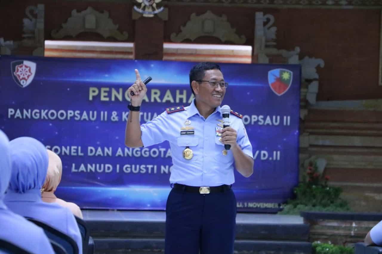 Kuker ke Lanud I Gusti Ngurah Rai I, Pangkoopsau II Tekankan Pemanfaatan Media Sosial