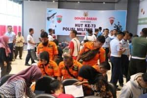 Berbagi Kasih dan Donor Darah Warnai Peringatan Ke-73 POMAU Lanud Sutan Sjahrir.