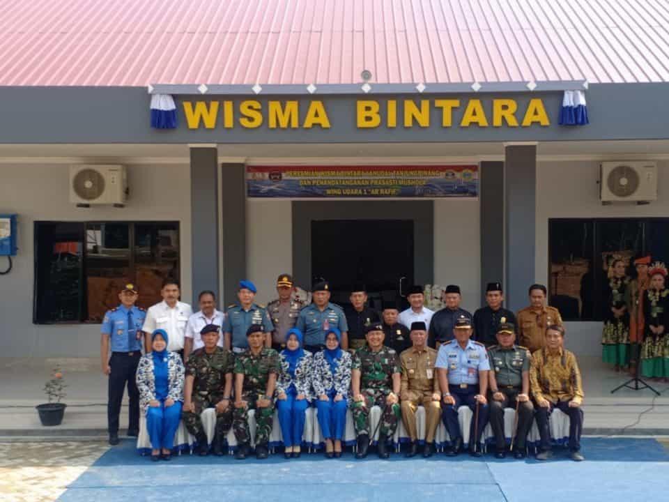 Danlanud RHF Hadiri Peresmian Wisma Bintara Lanudal Tanjungpinang