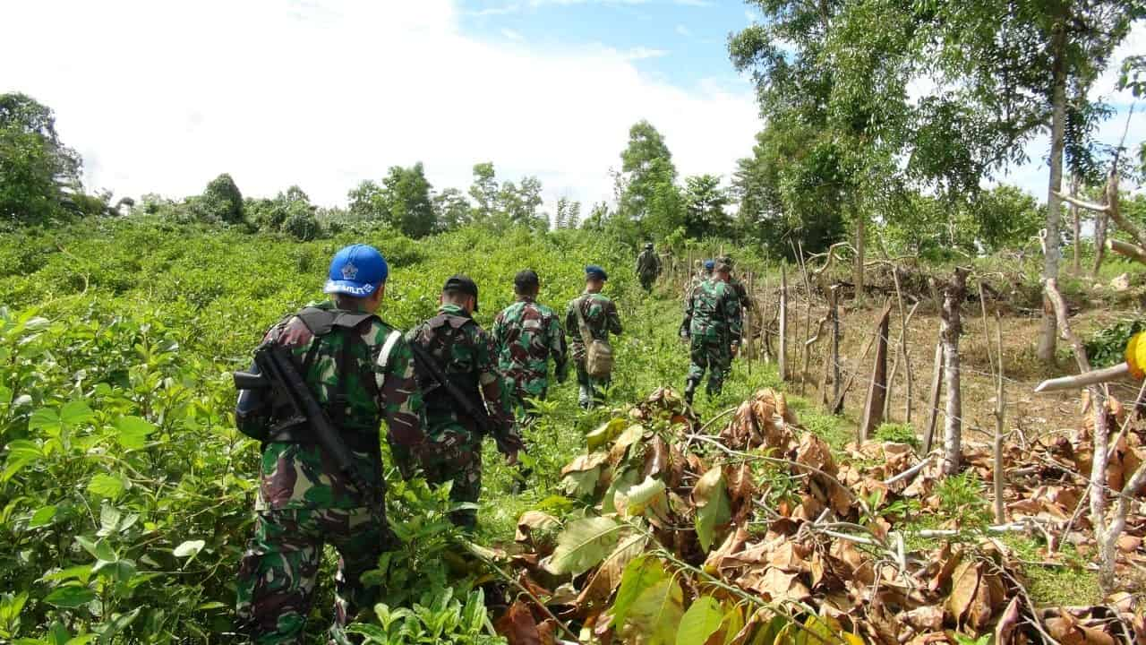 Patroli Aset dan Latihan menembak Lanud Haluoelo di AWR Boro-boro dan Lapangan Tembak Anoa