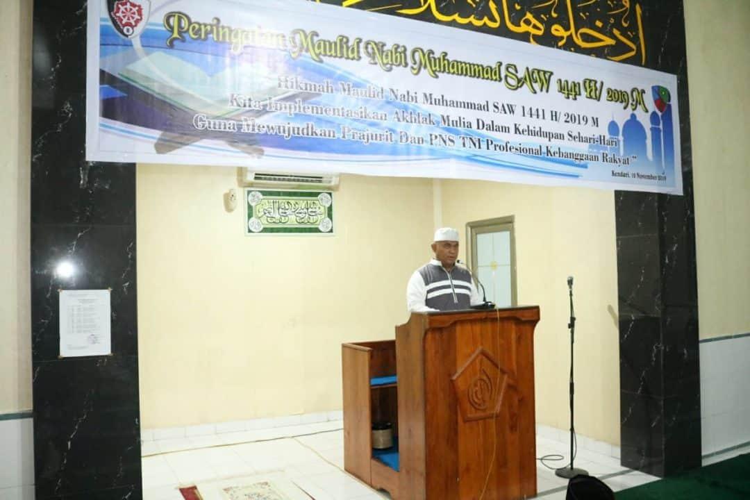Peringatan Maulid Nabi Muhammad SAW 1441 H/2019 M di Lanud Haluoleo