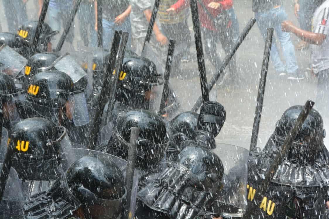 Pasukan PHH Lanud Iswahjudi berhasil amankan Pendemo