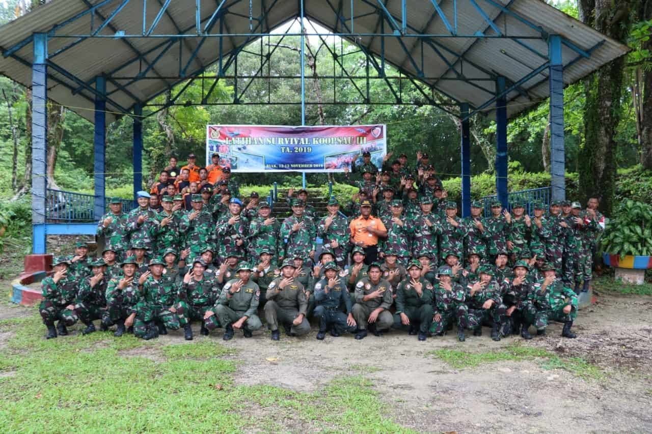 Pangkoopsau III Tutup Secara Resmi Latihan Survival Koopsau III