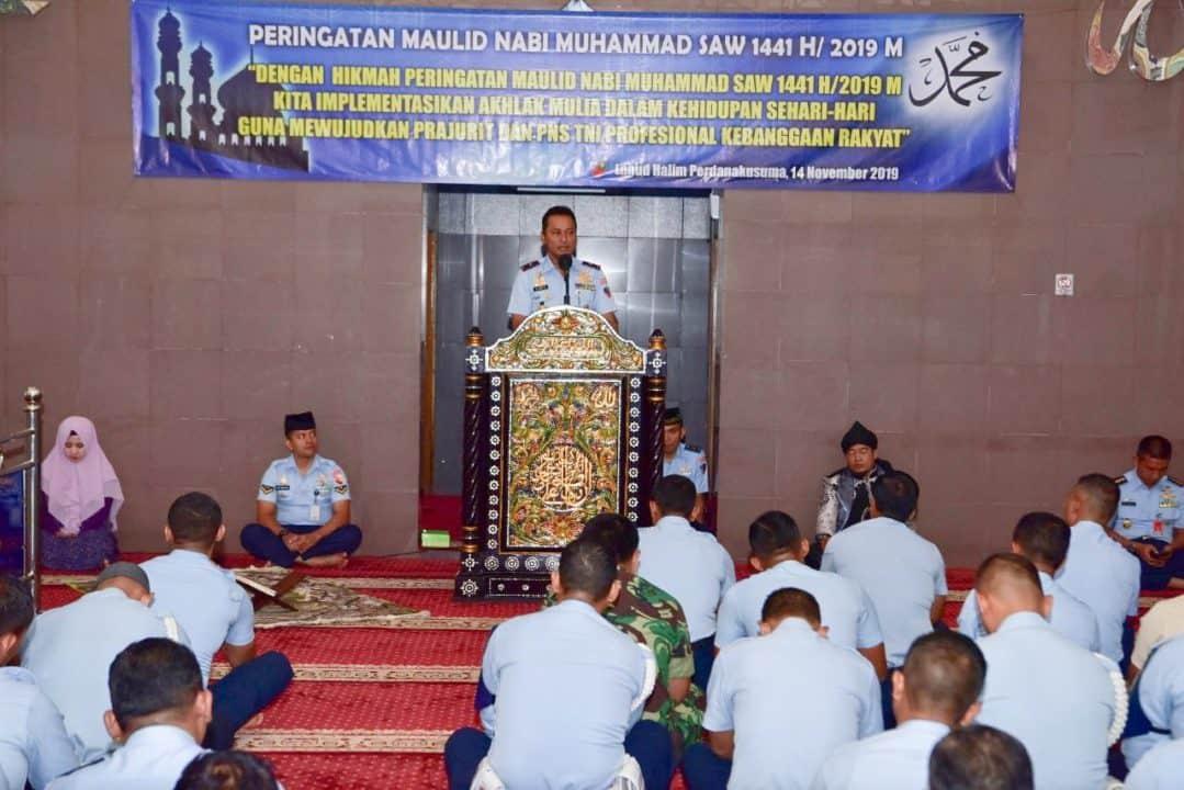 Warga Lanud Halim Perdanakusuma Peringati Maulid Nabi Muhammad SAW 144I H