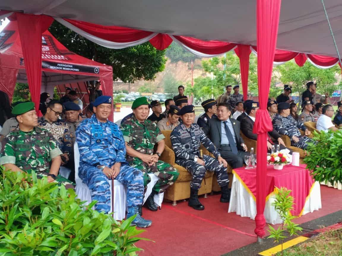 Danlanud RHF Hadiri Upacara HUT ke-74 Korps Brimob di Batam