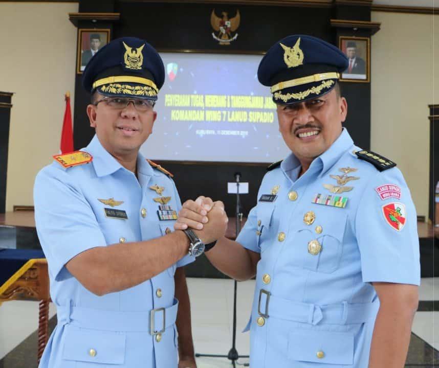 Komandan Lanud Supadio Pimpin Penyerahan Tugas dan Wewenang Jabatan Danwing 7