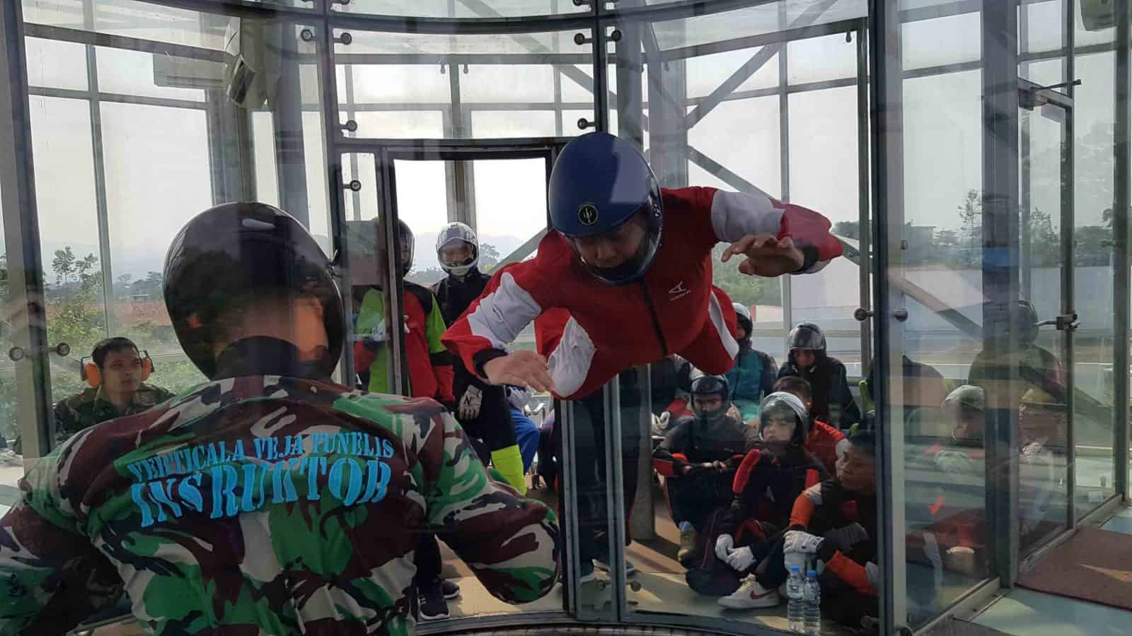 Pelatihan Formation Skydive Vertical Wind Tunnel di Pusdiklat Paskhas Berakhir