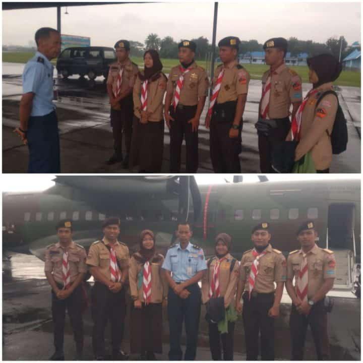 Lanud Soewondo Berangkatkan 11 Orang Pramuka Saka Dirgantara Mengikuti Aero Scout Camp Di Bandung