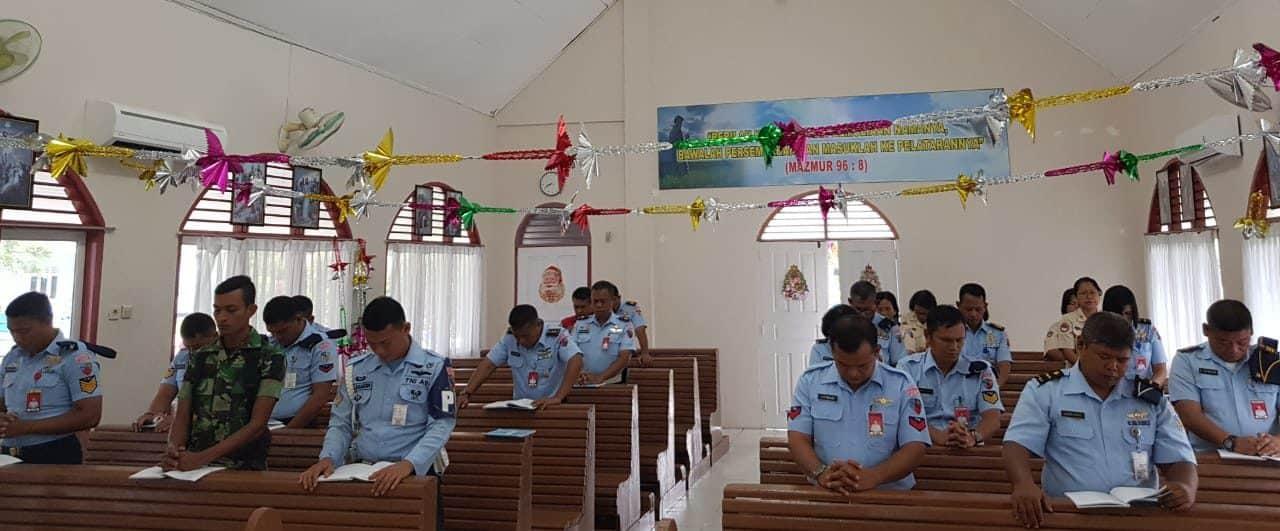 Umat Kristiani Lanud Rsn, Doa Bersama Songsong Tahun Baru 2020