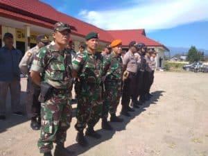 Satgas Pamrahwan Yonko 462 Paskhas Pos Bandara Enarotali Hadiri Apel Gabungan Di Kabupaten Paniai
