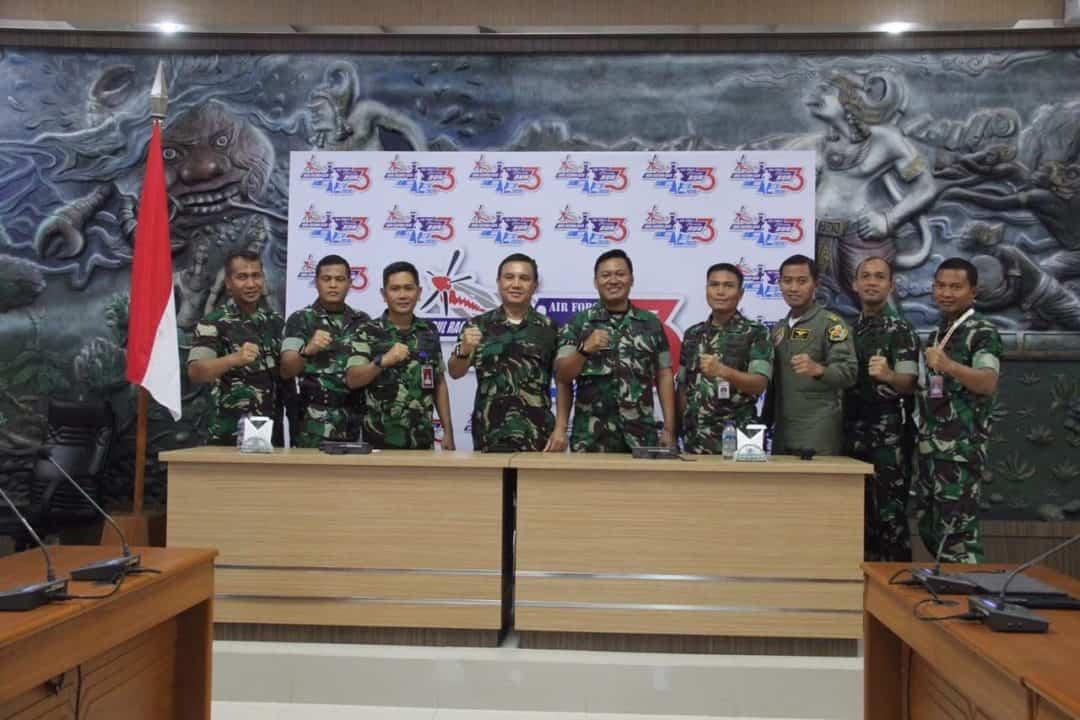 Lanud Abdulrachman Saleh Gelar Konferensi Pers dengan Wartawan Launching Air Force Run 2020
