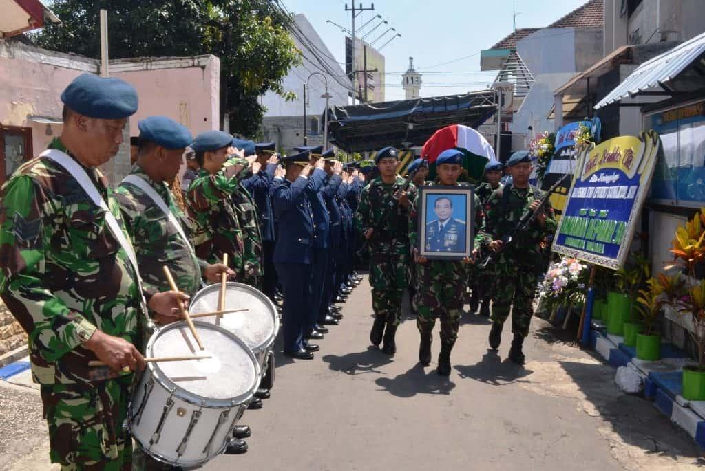 Pemakaman Marsma TNI (Purn.) H. Sunarto, S.H. Mantan Kadiskumau (2009-2011)