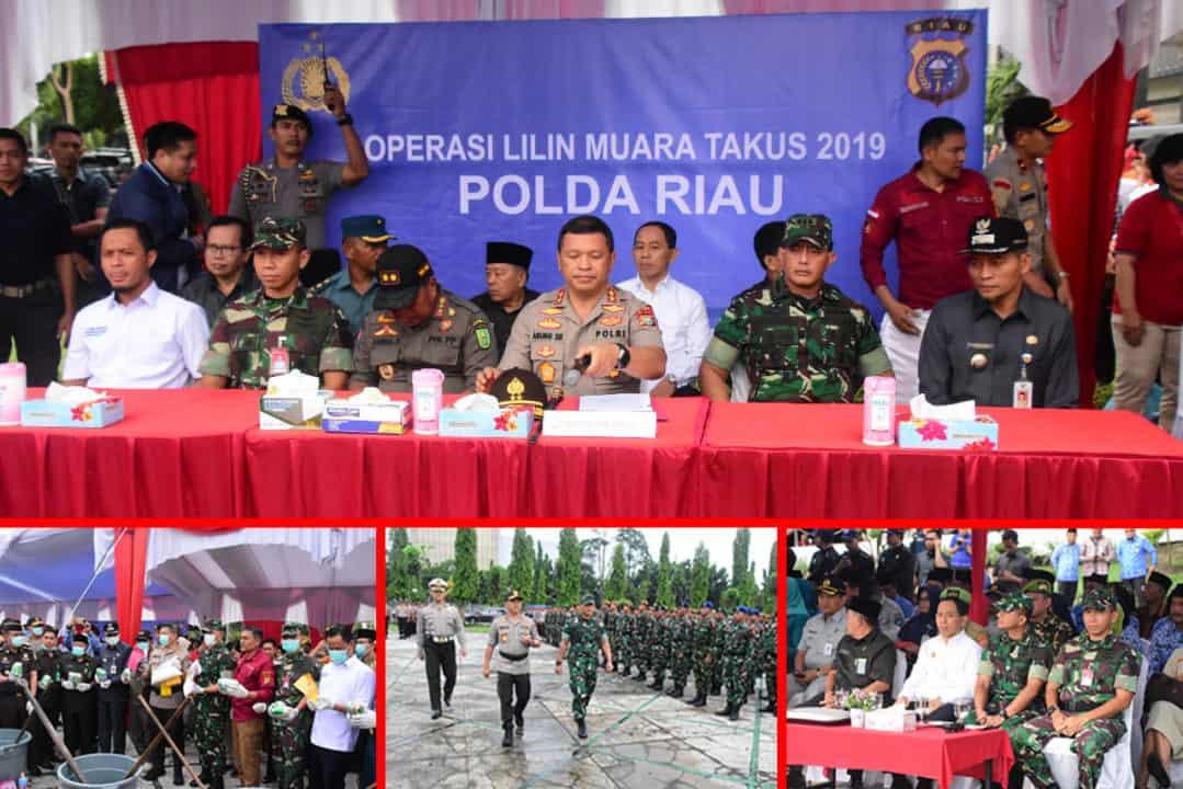 Apel Gelar Pasukan Pengamanan Natal dan Tahun Baru 2020 di Provinsi Riau