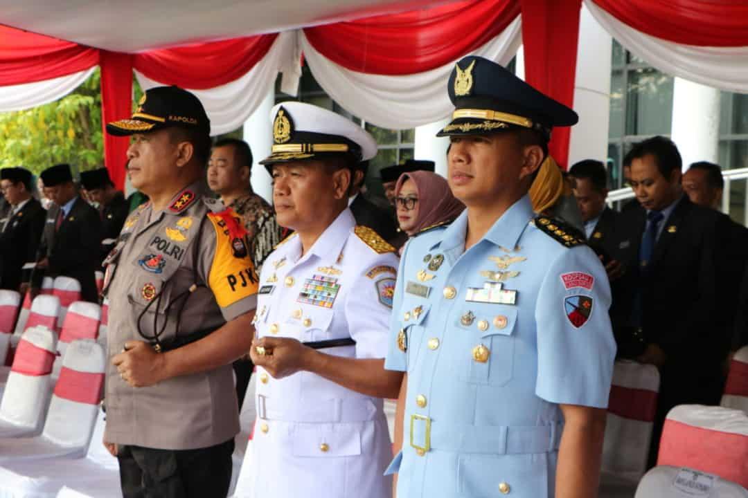 Prajurit Lanud Supadio Ikuti Upacara Bela Negara