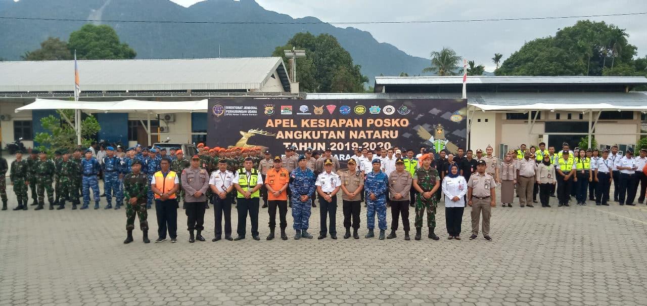 Satgas Pamrahwan Yonko 462 Paskhas Pos Bandara Sentani Ikuti Apel Pam Angkutan Nataru 2019-2020