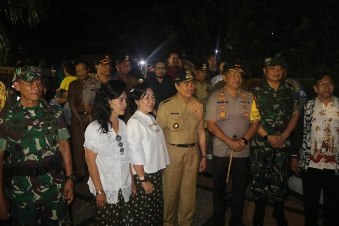 Dampingi Gubernur Riau, Danlanud RSN Tinjau Pengamanan Natal dan Tahun Baru