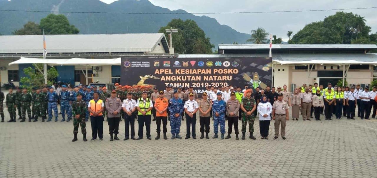 Satgas Pamrahwan Yonko 462 Paskhas Pos Bandara Sentani Ikuti Apel Pengamanan Angkutan Natal dan Tahun Baru 2019-2020